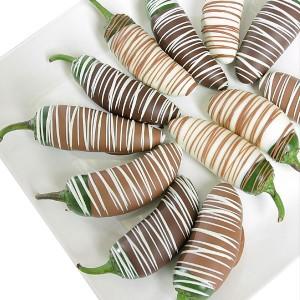 (c) Pimentos de chocolate